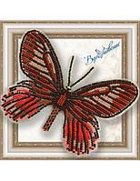 """017-BGP Набор для вышивки бисером на прозрачной основе """"Бабочка Eurytides Ariarathes Gayi"""""""