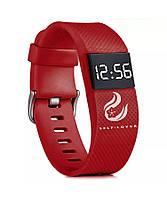 """LED наручные часы """"DTech"""" с ярким браслетом в красной цветовой схеме"""