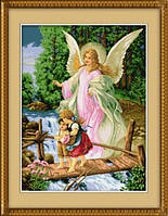 "025L Набор для рисования камнями (холст) ""Ангел-Хранитель"" LasKo"