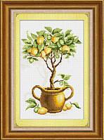 """025К Набор для рисования камнями (холст) """"Лимонное дерево"""" LasKo"""