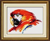 """027Т Набор для рисования камнями (холст) """"Красочный попугай"""" LasKo"""