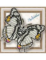 """030-BGP Набор для вышивки бисером на прозрачной основе """"Бабочка Харакс Нобилис"""""""
