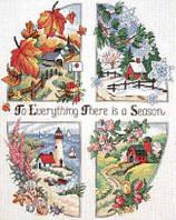 "03174 Набор для вышивания крестом DIMENSIONS A Season for Everything ""Времена года"""