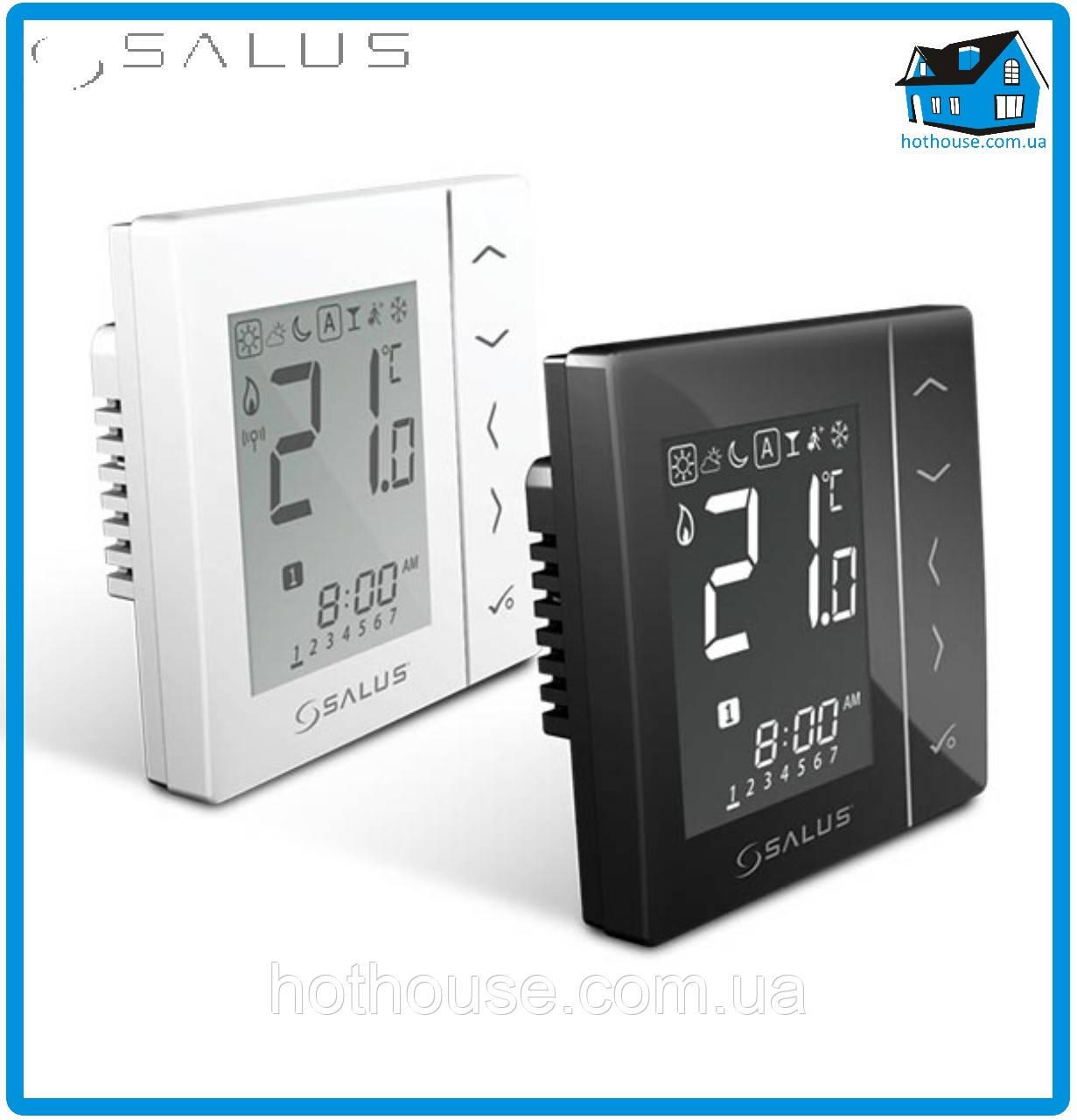 Беспроводной комнатный термостат с цифровой индикацией 4 в 1, 230V, черный VS10BRF