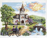 """03227 Набір для вишивання хрестом DIMENSIONS Country Church """"Сільська церква"""""""