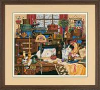 """03884 Набор для вышивания крестом DIMENSIONS Maggie the Messmaker """"Кошка Мегги-рукодельница"""""""