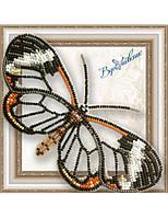 """049-BGP Набор для вышивки бисером на прозрачной основе """"Бабочка Грета Ото"""" (стеклянная)"""