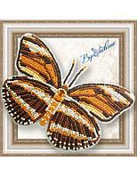 """050-BGP Набор для вышивки бисером на прозрачной основе """"Бабочка Dryadula Phaetusa"""""""