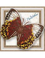 """052-BGP Набор для вышивки бисером на прозрачной основе """"Бабочка Стихофтальма Луиза"""""""
