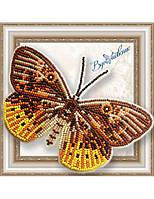 """054-BGP Набор для вышивки бисером на прозрачной основе """"Бабочка Eurybia Juturna"""""""