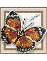 """057-BGP Набор для вышивки бисером на прозрачной основе """"Бабочка Euphaedra Eleus"""""""