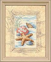 "06956 Набор для вышивания крестом DIMENSIONS Shells in the Sand ""Ракушки на песке"""