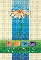 """06975 Набор для вышивания крестом DIMENSIONS Live Simply """"Жить просто"""""""