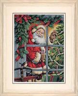 """08734 Набір для вишивання хрестом DIMENSIONS Candy Cane Santa """"Карамельний льодяник Санти"""""""
