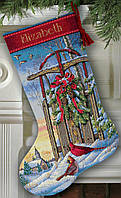 """08819 Набор для вышивания крестом DIMENSIONS Christmas Sled. Stocking """"Рождественские сани. Чулок"""""""