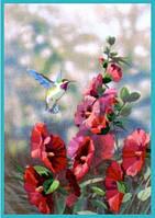 """11127 Набор для вышивания гладью DIMENSIONS Hollyhocks in Bloom """"Цветущие мальвы"""""""