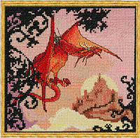 """121 КA (Aida) Набор для вышивания крестом NIMUЁ Le Dragon Rouge """"Красный дракон"""""""