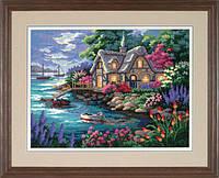 """12155 Набор для вышивания крестом DIMENSIONS Cottage Cove """"Домик в бухте"""""""
