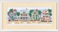 """13726 Набор для вышивания крестом DIMENSIONS Seaside Cottages """"Коттеджи у моря"""""""