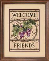 """13733 Набор для вышивания крестом DIMENSIONS Welcome Friends """"Добро пожаловать, друзья"""""""