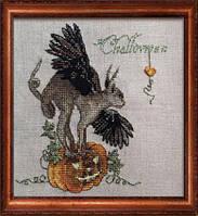 """143 КA (Aida) Набор для вышивания крестом NIMUЁ Challoween """"Хеллоуин"""""""