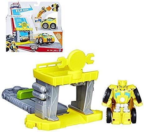 Набор трансфомер Бамблби и гараж, Playskool Heroes Transformers Rescue Bots Flip Racers Bumblebee Garage