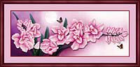 "5D-024 Набор алмазная техника (холст) 5D ""Розовые цветы"" LasKo"