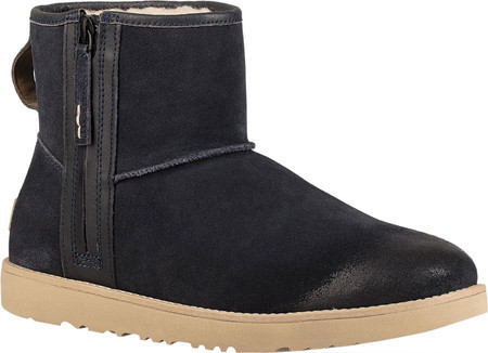 мужские ботинки Ugg Classic Mini Zip Waterproof Boot True Navy Suede