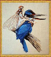 """64-М010 К Набор для вышивания крестом NIMUЁ Le Martin-Pecheur """"Зимородок"""""""