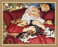 """70-08836 Набір для вишивання хрестом DIMENSIONS Santa's Nap """"Сплячий Санта"""""""