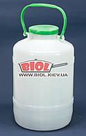 Бидон 5л пластиковый пищевой с крышкой и ручкой Горизонт GR-02056, фото 1