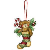 """70-08894 Набор для вышивания крестом DIMENSIONS Bear Christmas Ornament """"Рождественское украшение Медведь"""""""