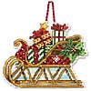 "70-08914 Набір для вишивання хрестом DIMENSIONS Sleigh Christmas Ornament ""Різдвяна прикраса Сани"""