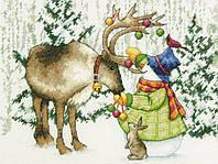 """70-08947 Набор для вышивания крестом DIMENSIONS Ornamental Reindeer """"Северный олень"""""""