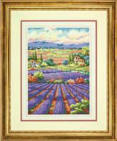 """70-35299 Набір для вишивання хрестом DIMENSIONS Fields of Lavender """"Лавандові поля"""""""