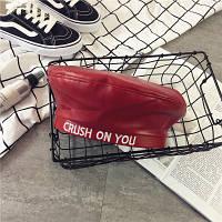 Женский берет из кожзама Crush On You красный, фото 1