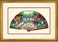 """70-35327 Набор для вышивания крестом DIMENSIONS Garden Fan """"Садовый веер"""""""