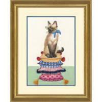 """70-35367 Набор для вышивания крестом DIMENSIONS Cat lady """"Леди-кошка"""""""