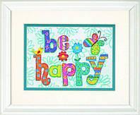 """70-65115 Набор для вышивания крестом DIMENSIONS Be Happy """"Будь счастлив"""""""