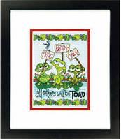 """70-65148 Набор для вышивания крестом DIMENSIONS Frog Parking """"Жабья парковка"""""""
