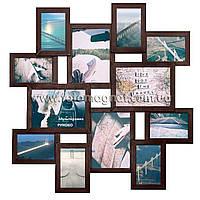 Коллаж из фотографий(фоторамка коллаж) Венге MEGA 4/21х30,8/20х15см.
