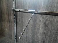 Кронштейн флейта похила 400мм на перемичку європейського торгового обладнання, фото 1