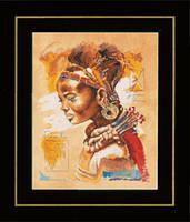 """PN-0008009 Набор для вышивки крестом LanArte African Woman """"Африканская девушка"""""""