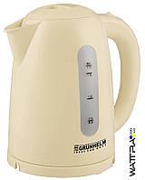 ⭐ Чайник электрический GRUNHELM EKP-2217 C (бежевый) 1,7 л, 2200 Вт,диск