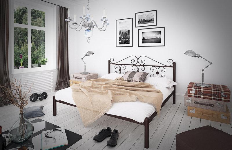 Ліжко металеве Бегонія двоспальне TM Tenero