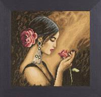 """PN-0008339 Набор для вышивки крестом LanArte Spanish Beauty """"Испанская красота"""""""