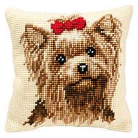 """PN-0008538 Набор для вышивания крестом (подушка) Vervaco Yorkshire Terrier """"Йоркширский терьер"""""""
