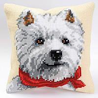"""PN-0008572 Набор для вышивания крестом (подушка) Vervaco West Highland Terrier """"Норвич терьер"""""""