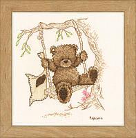 """PN-0011188 Набор для вышивки крестом Vervaco Bear Swing """"Мишка на качелях"""""""