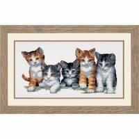 """PN-0012073 Набір для вишивки хрестом Vervaco Cat family """"Котяча родина"""""""
